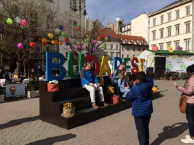 The Easter market in the main square